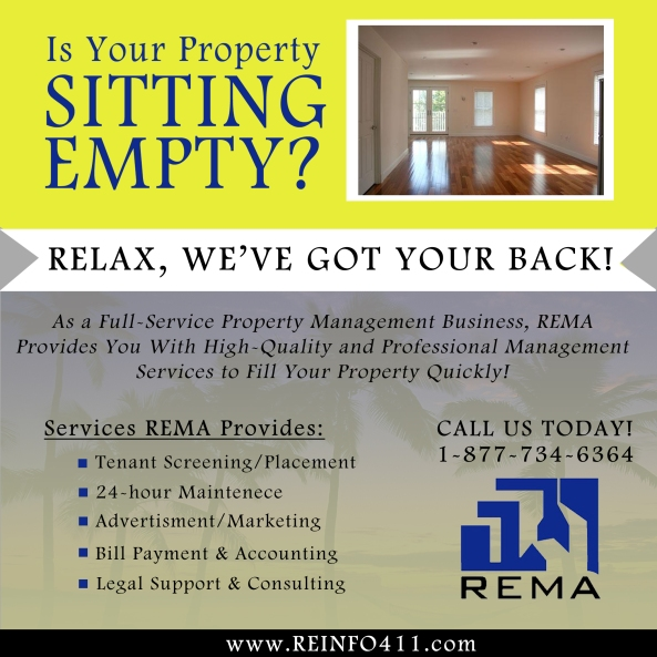 Need To Occupy Your Property Space? REMA Can Help You! Ask Us How...