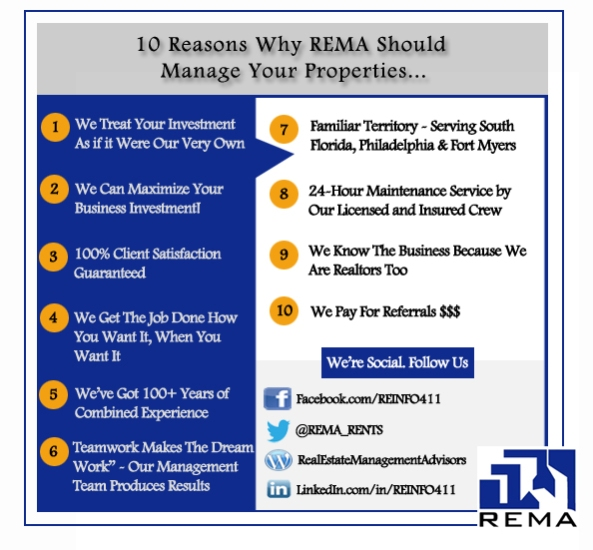 10 Reasons You Should Hire REMA As Your Property Manager