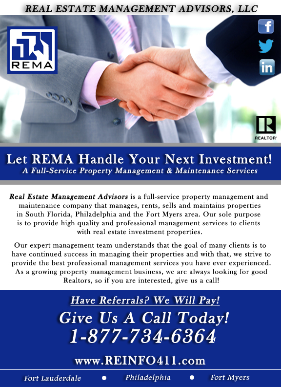 Let REMA Handle Your Real Estate Investment!